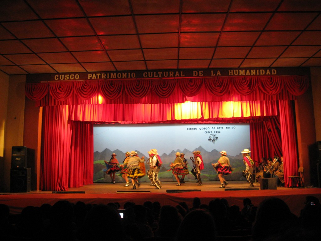 After mass, we went to a native cultural show with traditional dancing and singing in Quechua. The women sing in very high voices. Each performance included different dances and costumes from various areas of Peru.