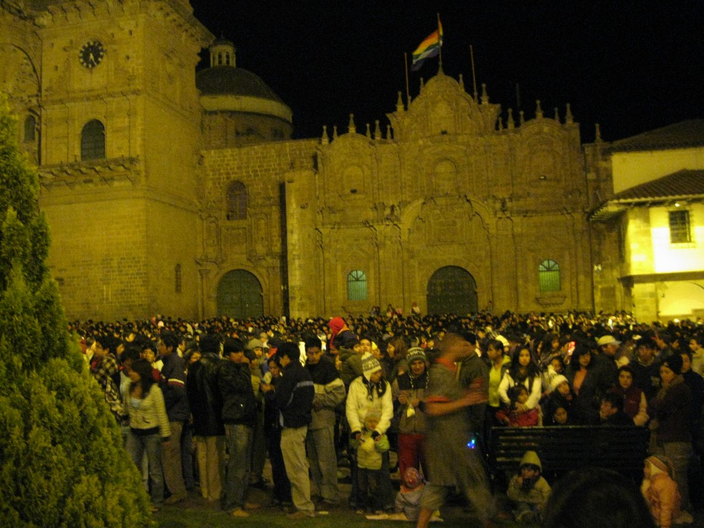 After the native show, we power walked through the mass of people to the Plaza de Armas for tonight's big celebration in preparation for one of Peru's biggest festivals, Inti Raymi, the Incas' honor of the Sun God. There was a live concert, fireworks and all kinds of food like a giant carnival or fair. I've never seen so many people in one place. What a great last night in Cuzco!