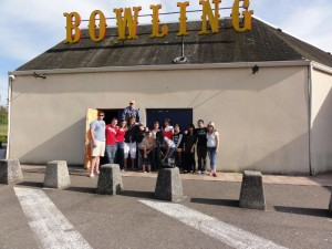 The whole group after bowling.