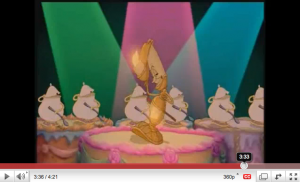 """Click here to watch """"Be Our Guest"""" on YouTube"""