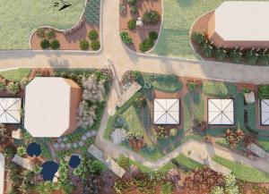 Proposed rendering of Pollinator Garden.