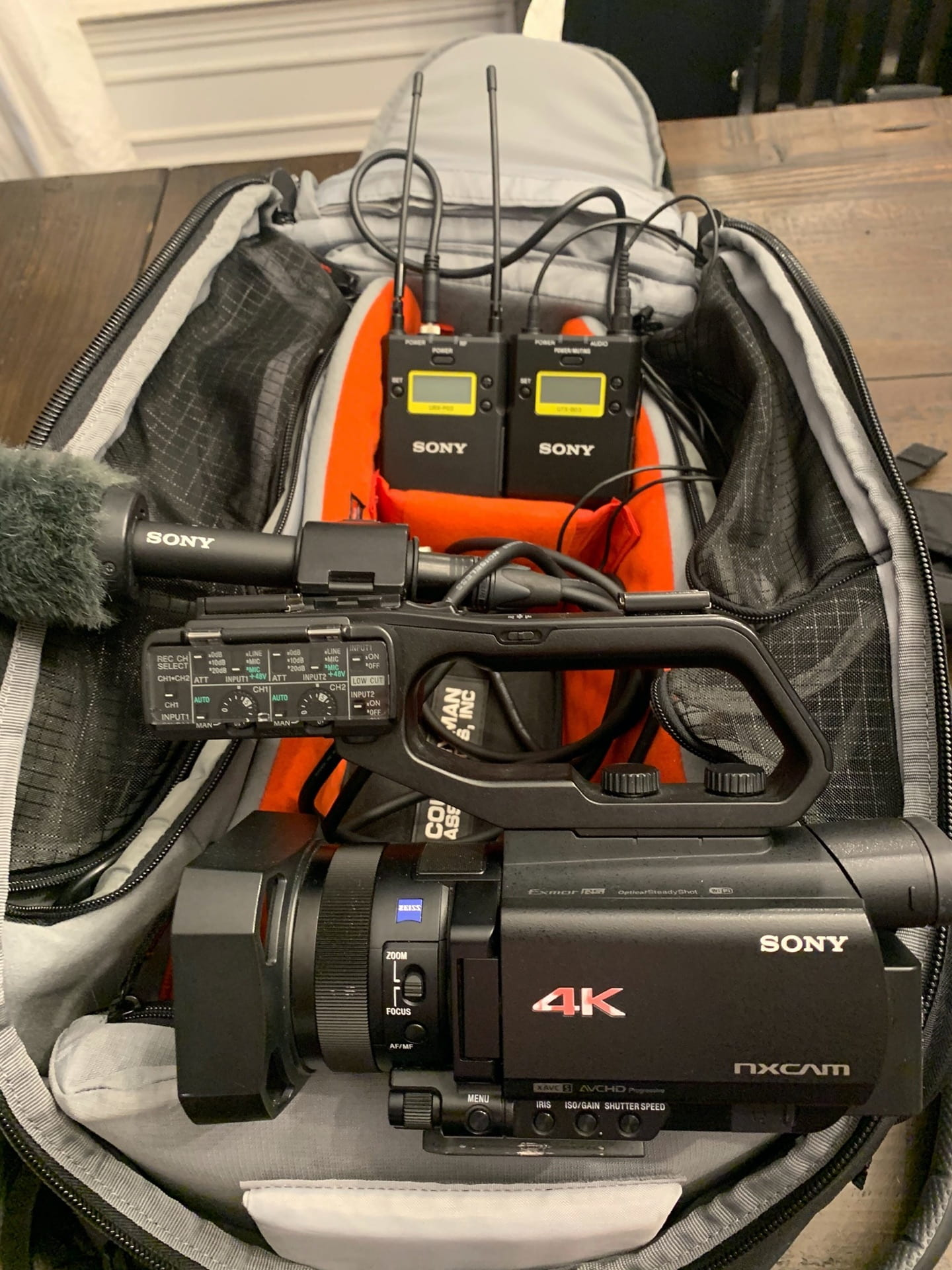 All the Equipment inside a Backpack