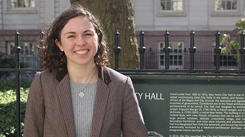 In Washington or New York City's City Hall, Graduating Senior and Dual Major Christina Thomas Gets Things Done