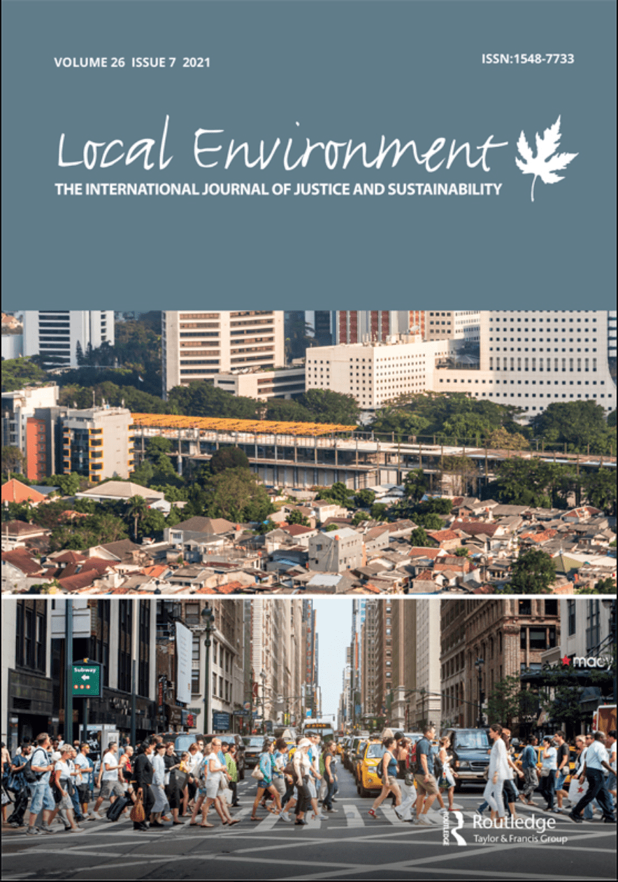 Dr. Toomey and Dr. Palta Publish Article In Local Environment