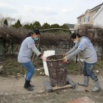 Pace University volunteers helped clean out houses in Staten Island post hurricane Sandy!