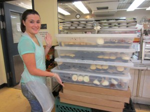 Laura showing the cupcakes she helped to serve to hungry NYC residents while volunteering with New York Common Pantry & the CCAR.