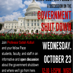 What Just Happened?! A Discussion on the Government Shut Down