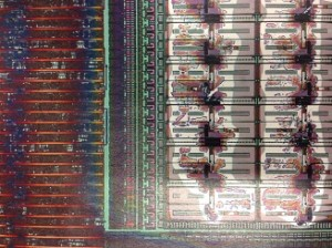 Microcontroller under Electron Microscope