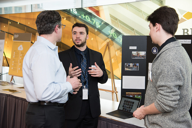 Students were at the event presenting their projects