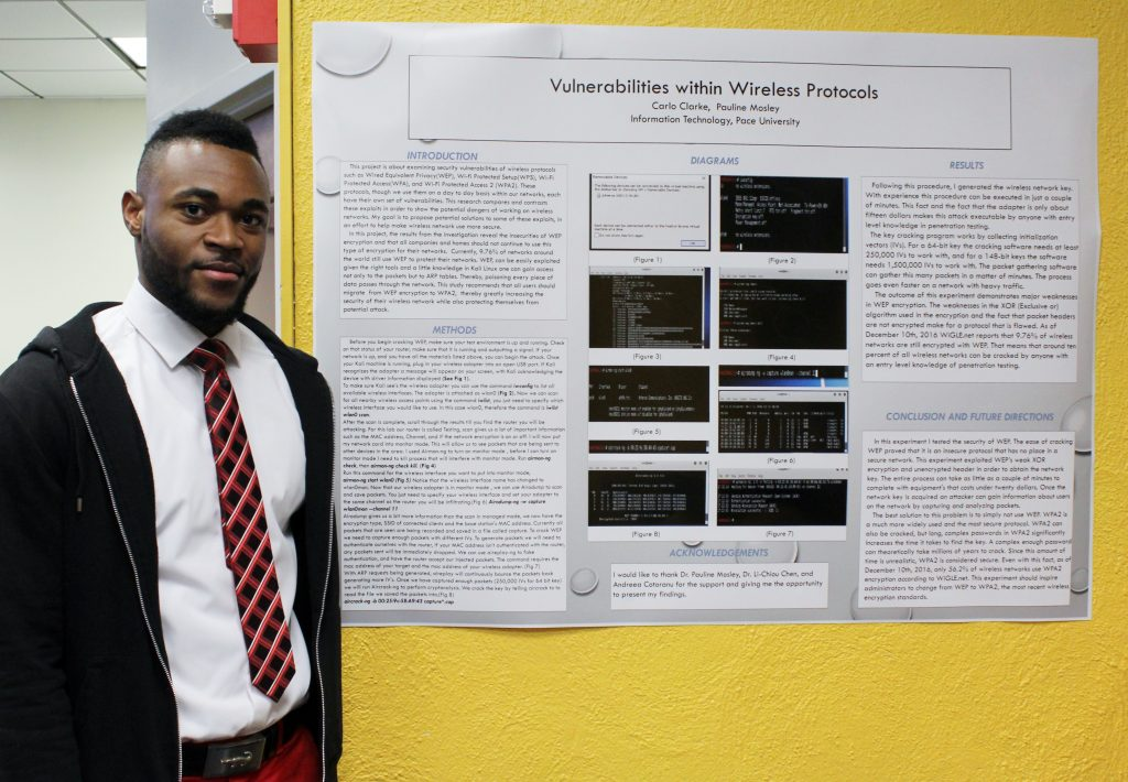 Student Carlo Clarke presented his research on Vulnerabilities within Wireless Protocols