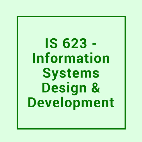Your Guide to Seidenberg: IS 623 Information Systems Design and Development