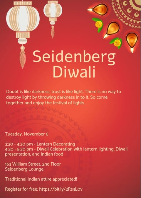 Come Celebrate Diwali with the Seidenberg School