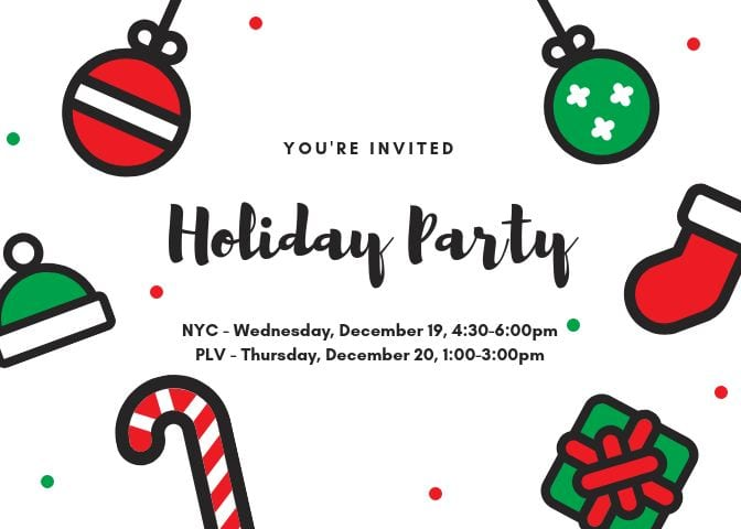 Join us at the Seidenberg annual Holiday parties!