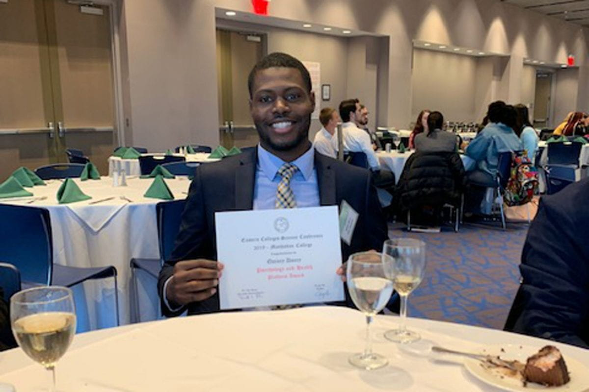 Seidenberg Student Receives an Award at Eastern Colleges Science Conference