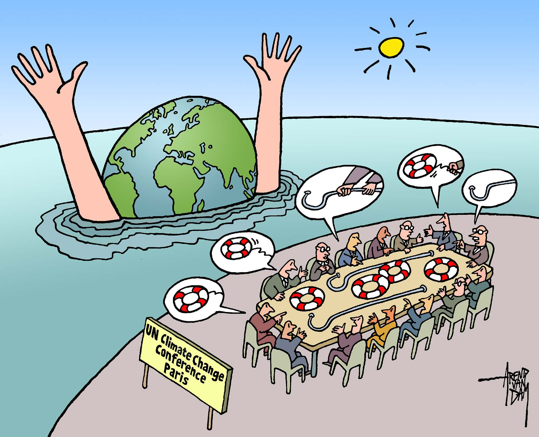 U.N. Climate Conferences: The Cartoonist's Skeptical Eye