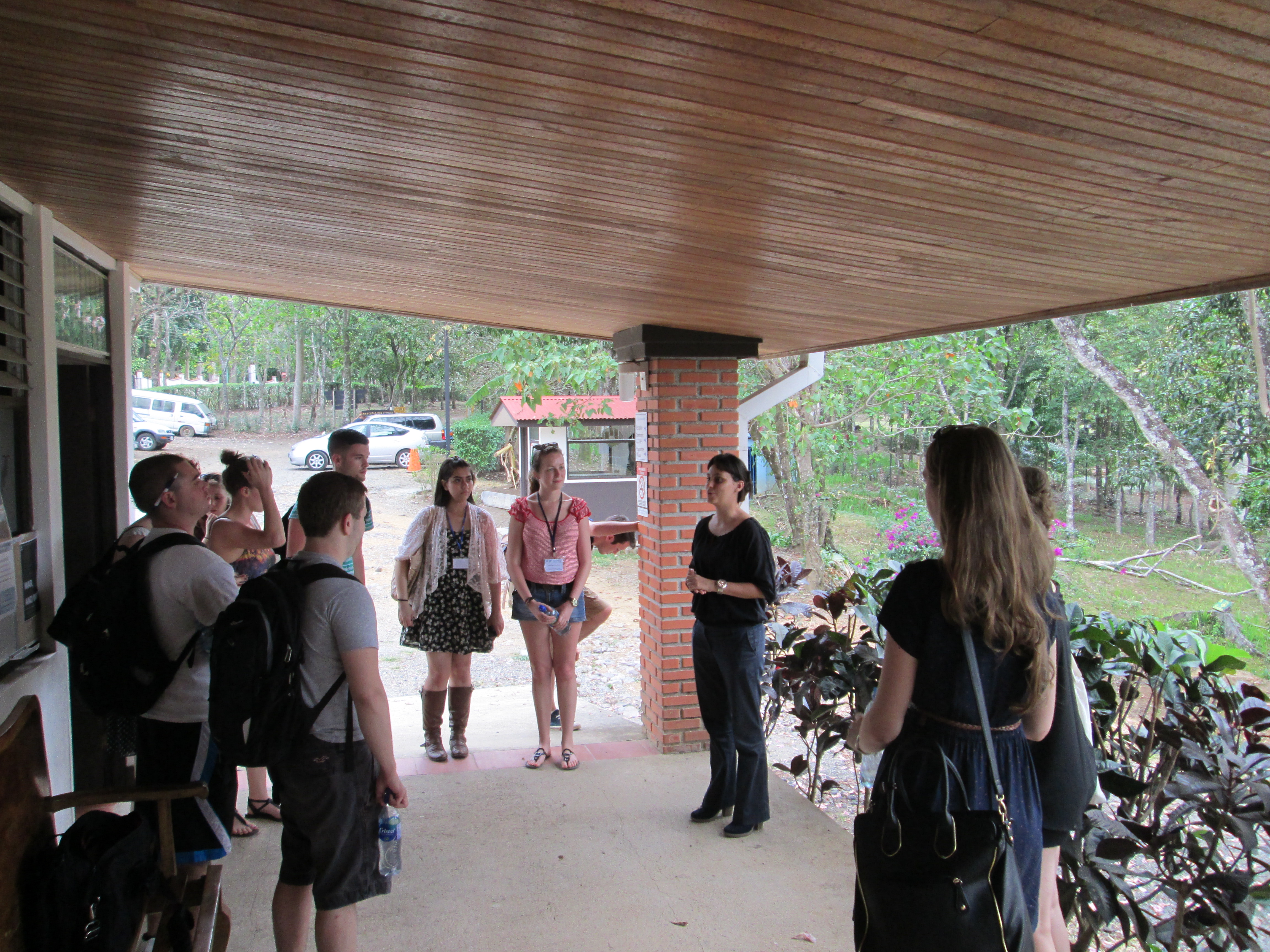 Pace University students take a tour of the UN University of Peace in Costa Rica before their participation in a Model UN conference in March.