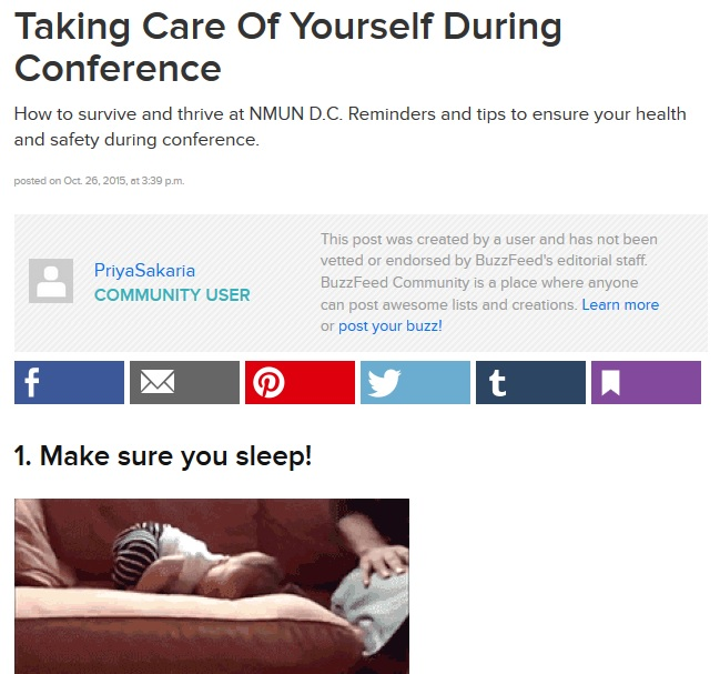 Taking Care of Yourself Buzzfeed