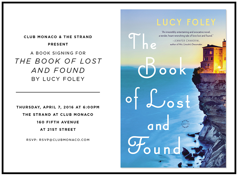 Lucy Foley The Book of Lost and Found Evite