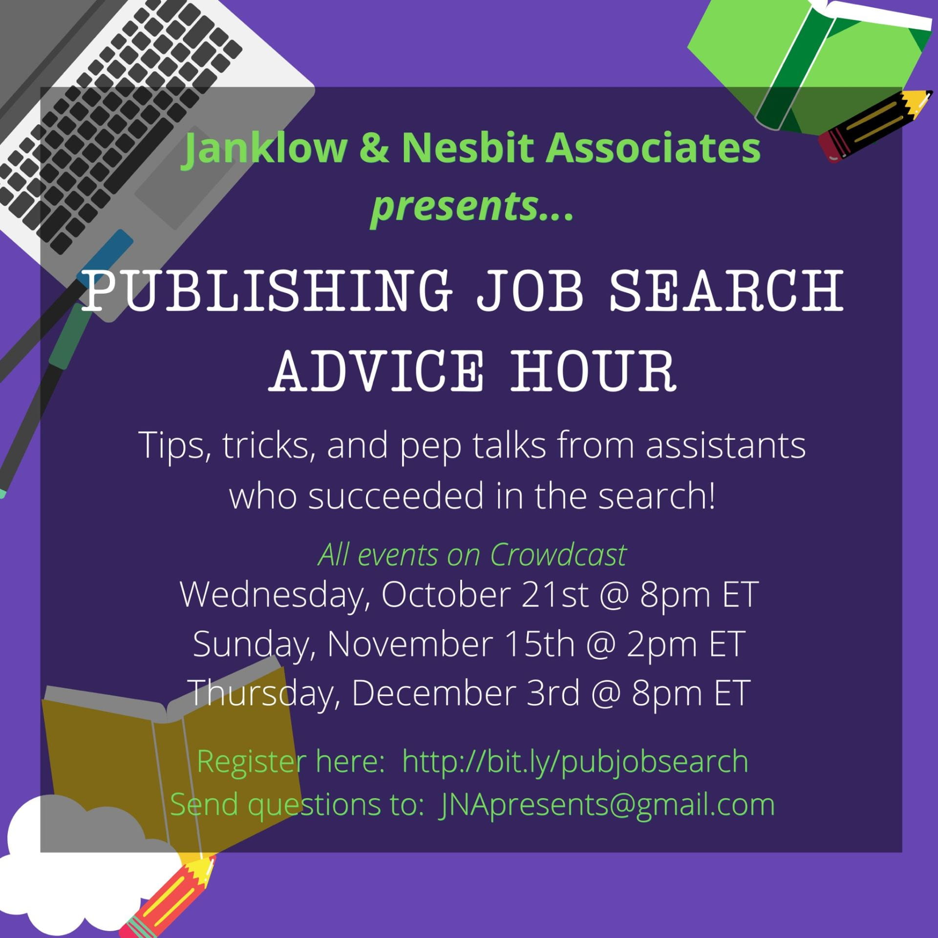 J&NA Presents: Publishing Job Search Advice Hour!