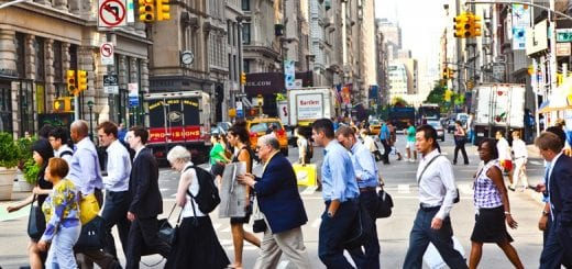 People in the New York Street