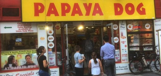 Cheap places to eat in NYC near ELI at Pace_papaya Dog