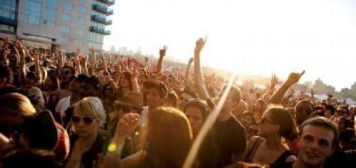 People attending a concert
