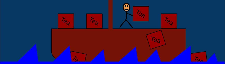 "American Revolution Political Cartoon – ""The Boston Fail Party"""