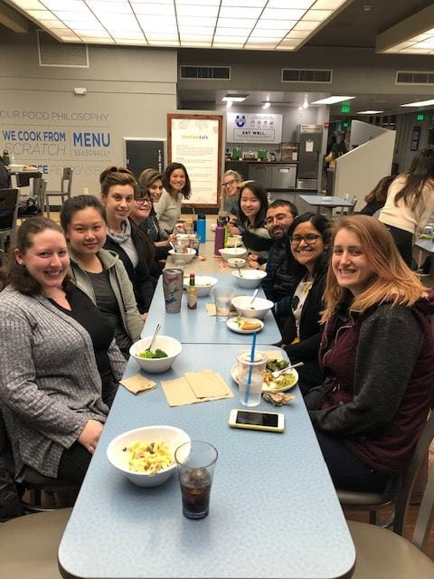 Masters in Special Education students group dinner