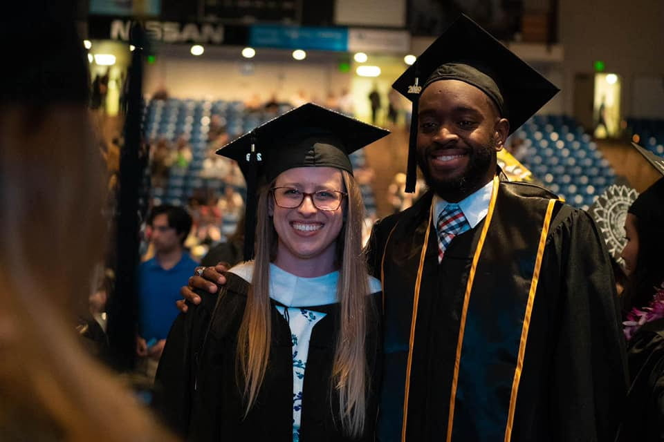 Lurie College alumni are all smiles after graduating