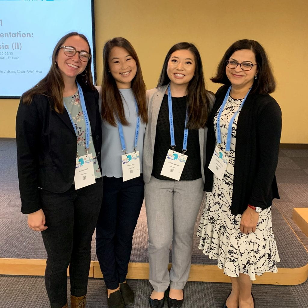 SJSU Lurie College Communicative Disorders and Sciences students Ashlyn Tadokoro, Jessica Brym, and Tiffany Park, and faculty Nidhi Mahendra
