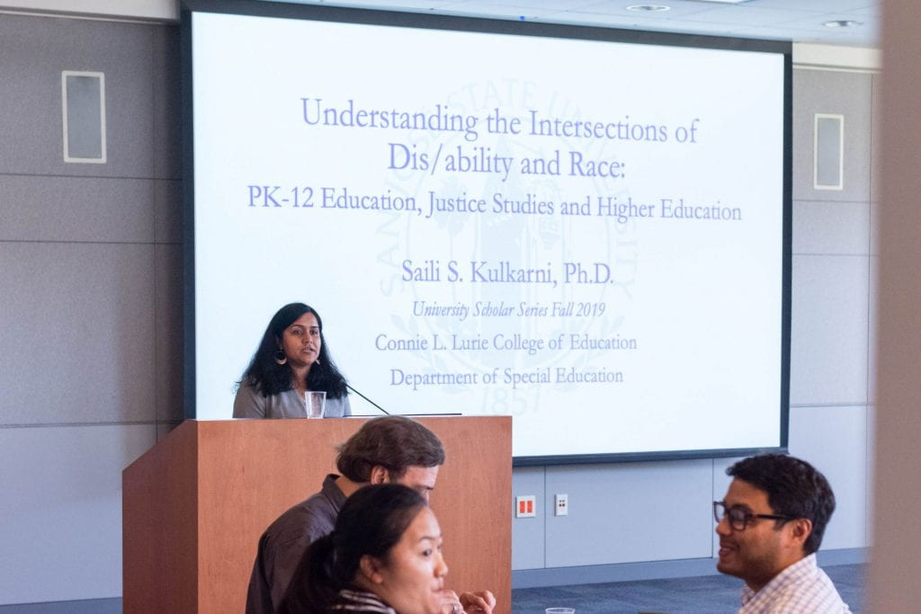 SJSU Lurie College of Education Special Education Department Faculty Saili Kulkarni University Scholar Series 1