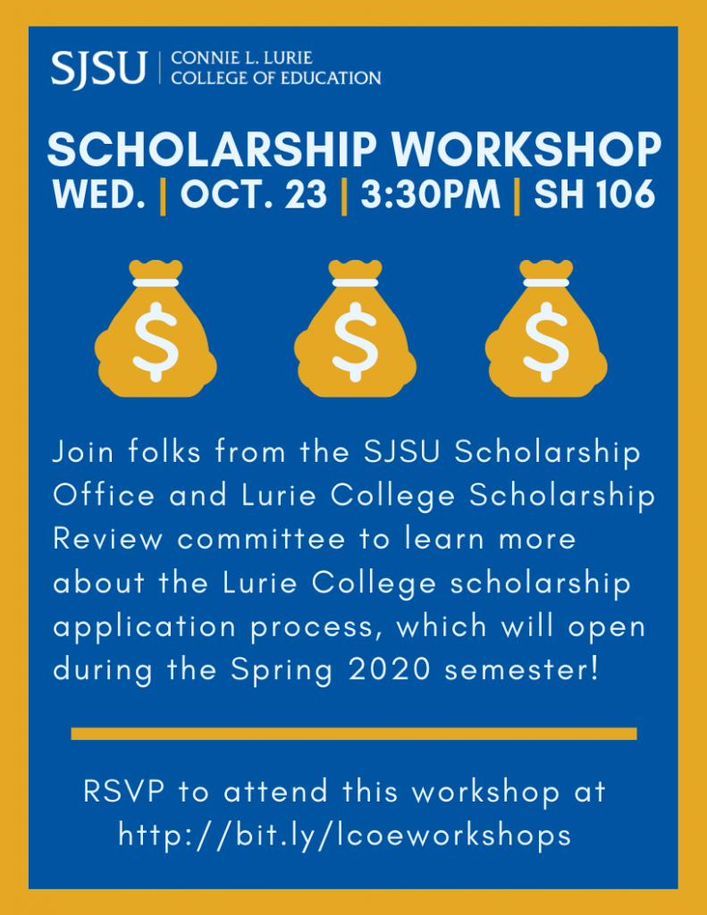 Fall 2019 Scholarship Application Workshop