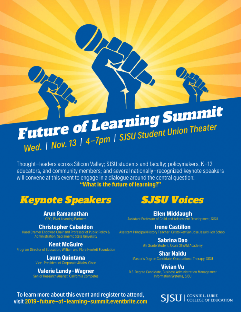 SJSU Lurie College of Education Future of Learning Summit