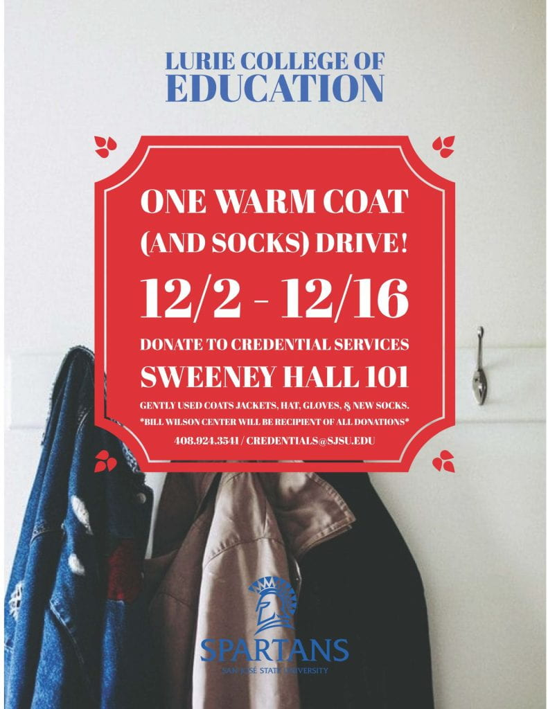 Lurie College of Education One Warm Coat Drive