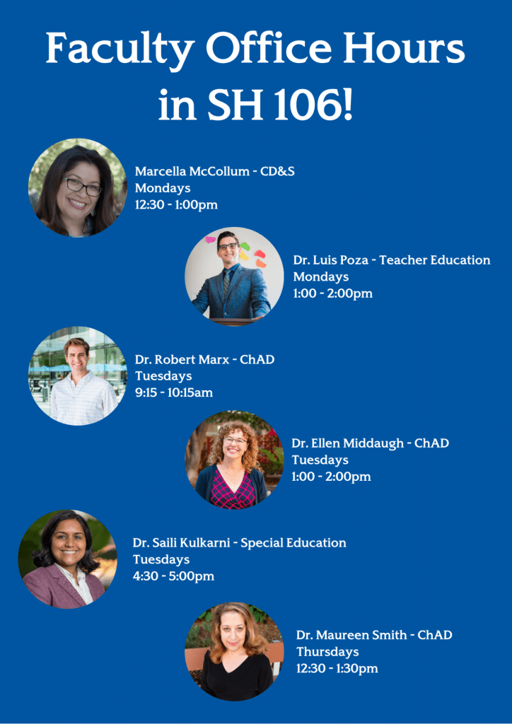 SJSU Lurie College of Education Spring 2020 Faculty Office Hours