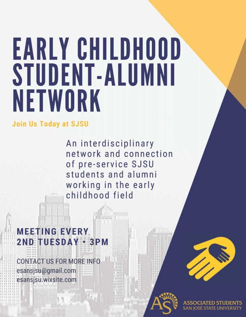 SJSU Lurie College of Education Student Organization ESAN Early Childhood Student Alumni Network