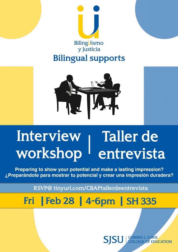 SJSU Lurie College of Education Bilingual Authorization Program Interview Workshop