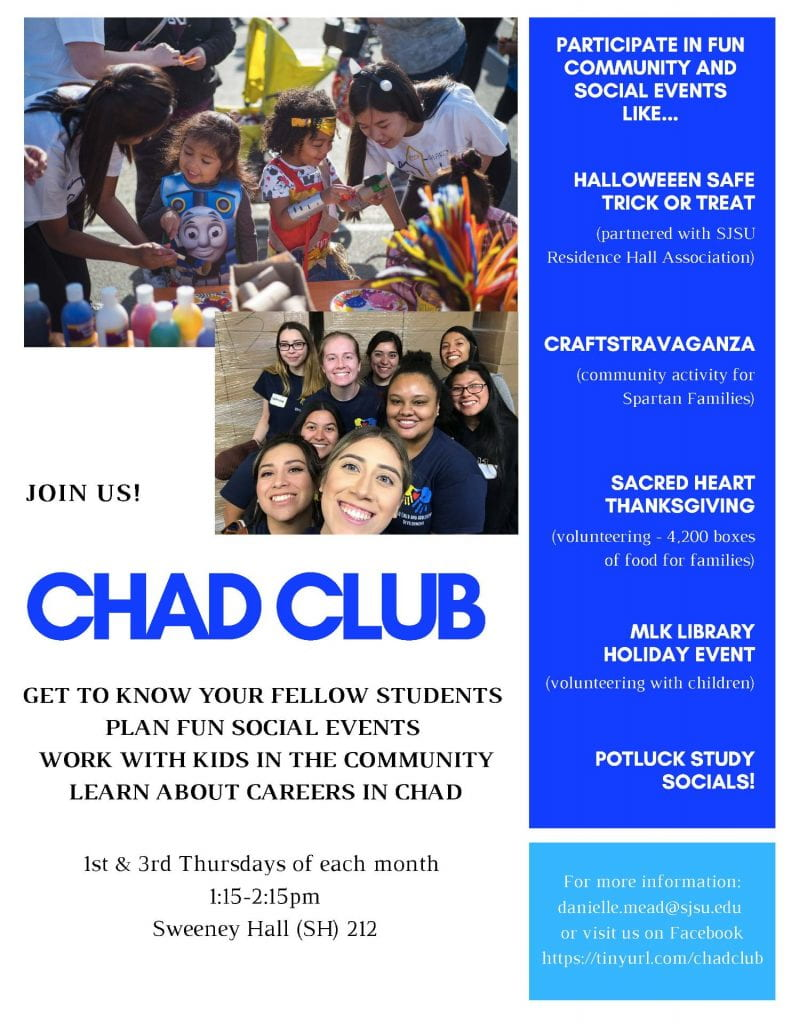 SJSU Lurie College of Education ChAD Club Spring 2020