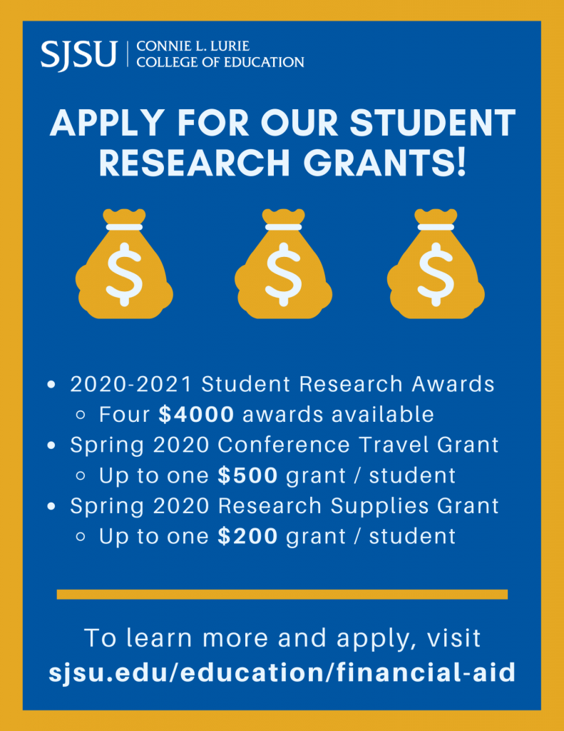 SJSU Lurie College of Education Financial Aid Opportunities Spring 2020