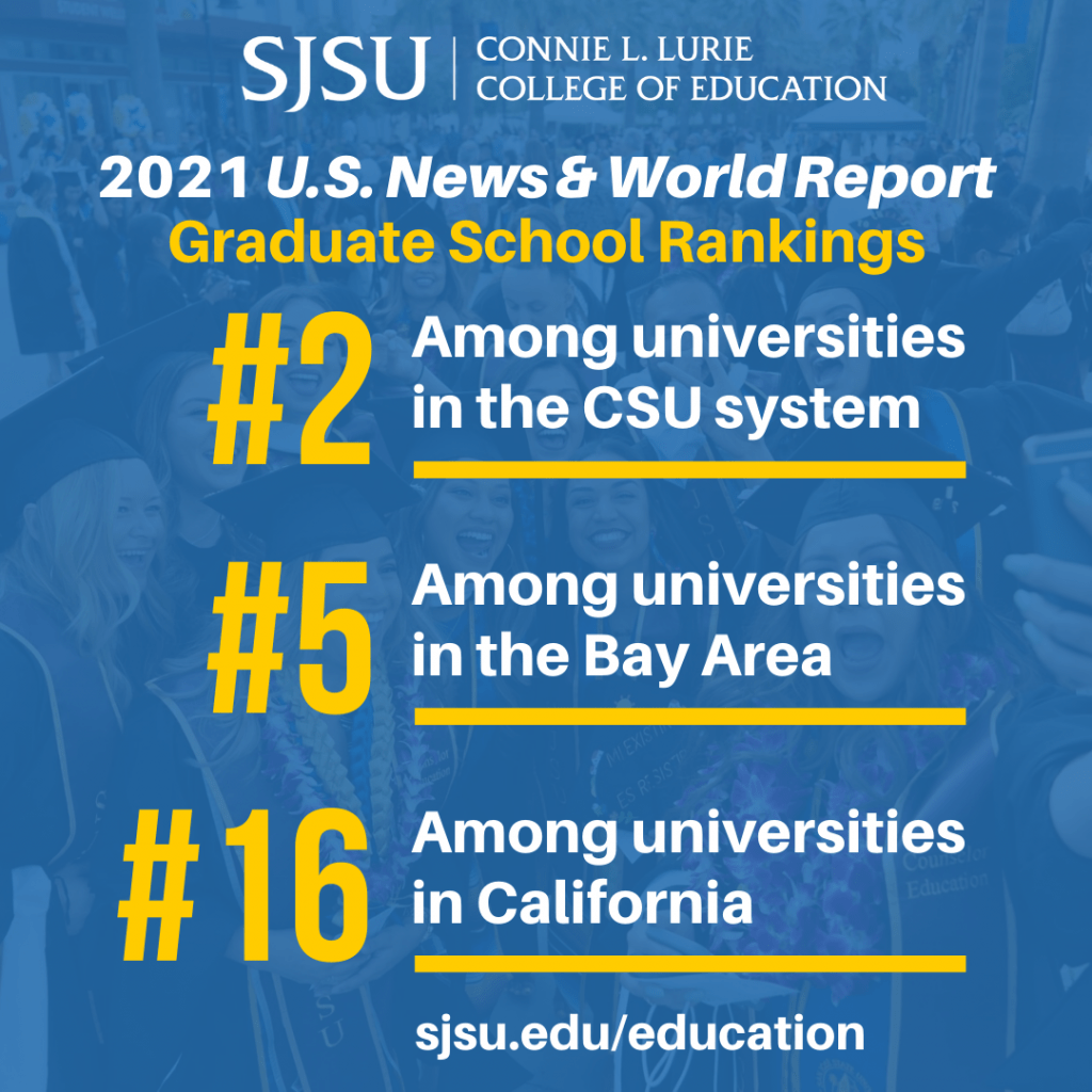 SJSU Lurie College of Education 2021 U.S. News & World Report