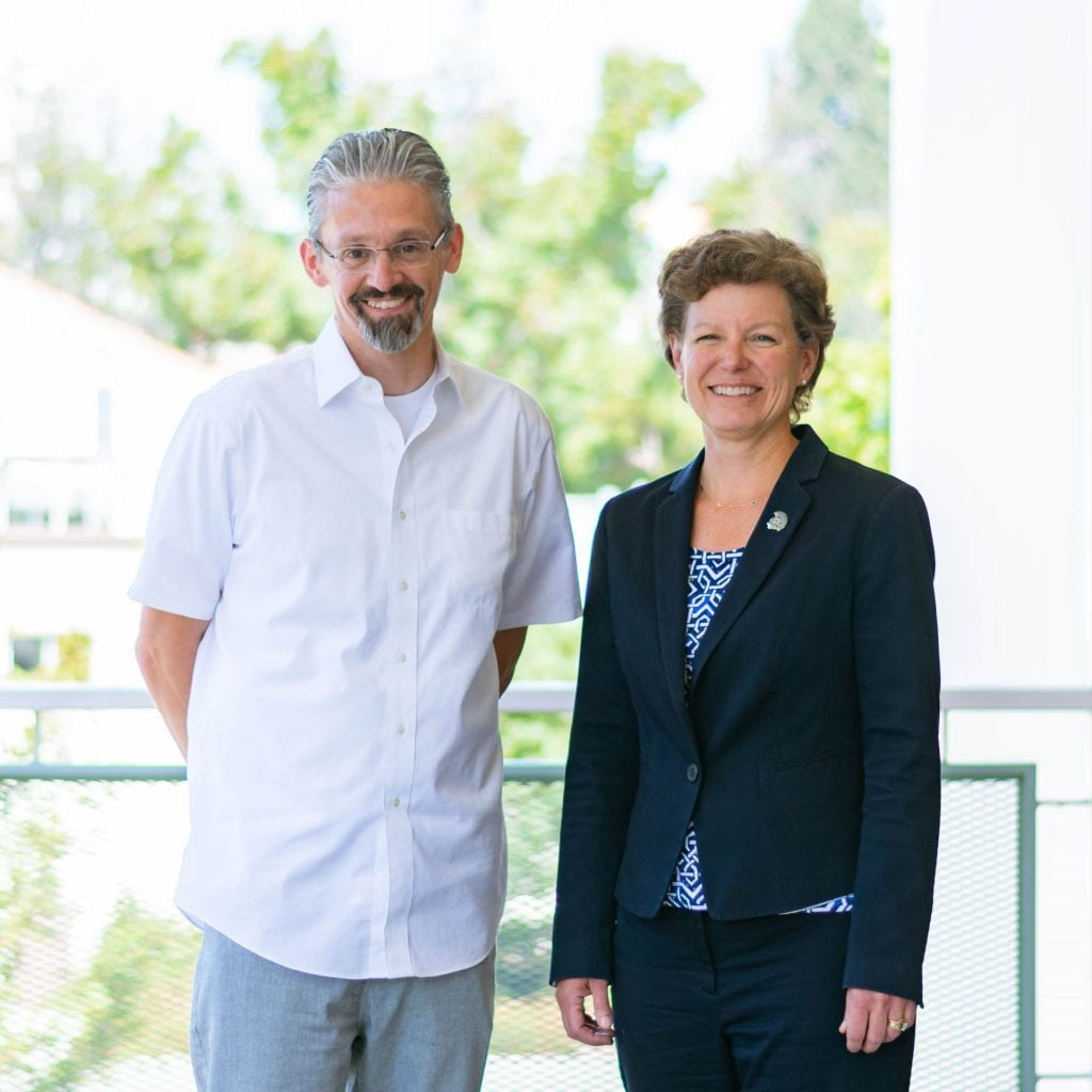 SJSU Lurie College of Education Dean Heather Lattimer and Associate Dean Marcos Pizarro