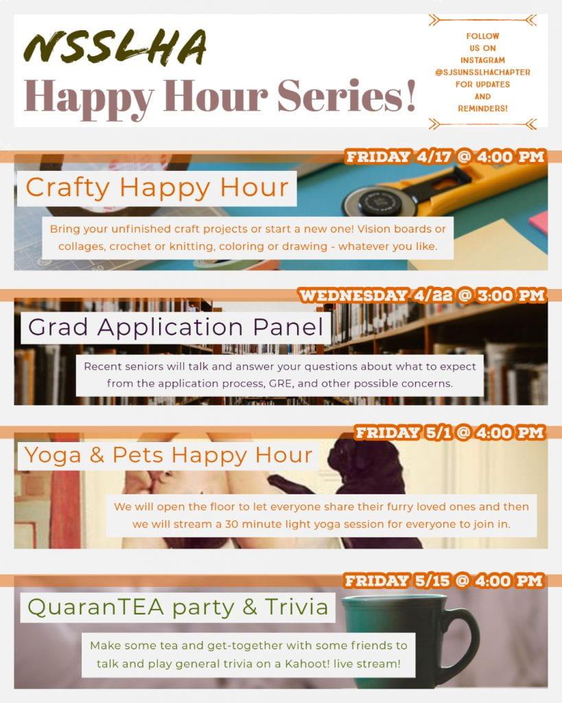SJSU Lurie College NSSLHA Happy Hour Series