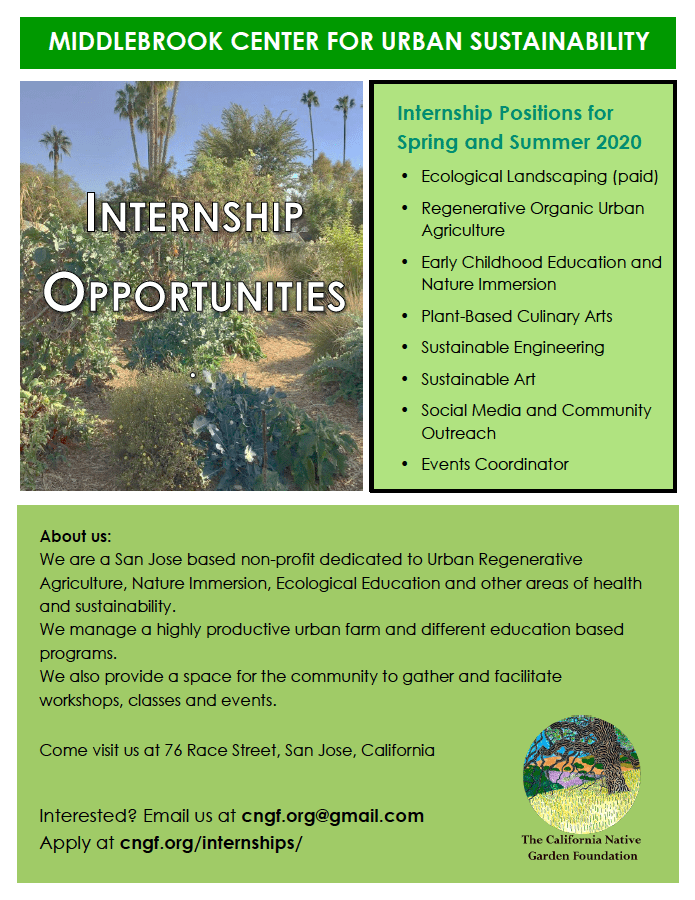 California Native Garden Foundation Internship