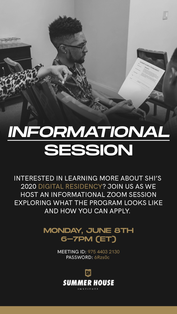Summer House Info Session