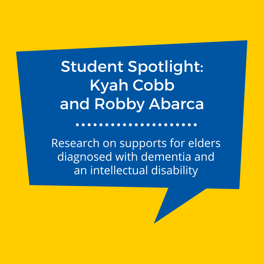 SJSU Lurie College of Education Communicative Disorders and Sciences Students Kyah Cobb and Robby Abarca