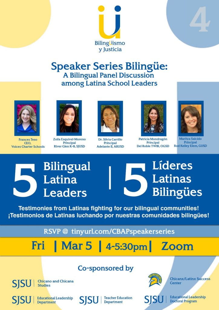CBAP Speaker series - Bilingual Latina Leaders
