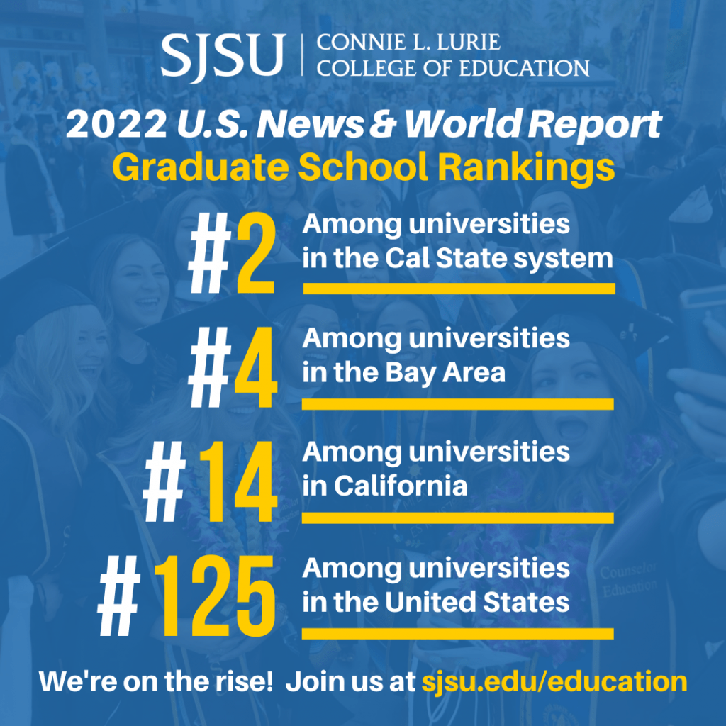 SJSU Lurie College of Education 2022 U.S. News & World Report