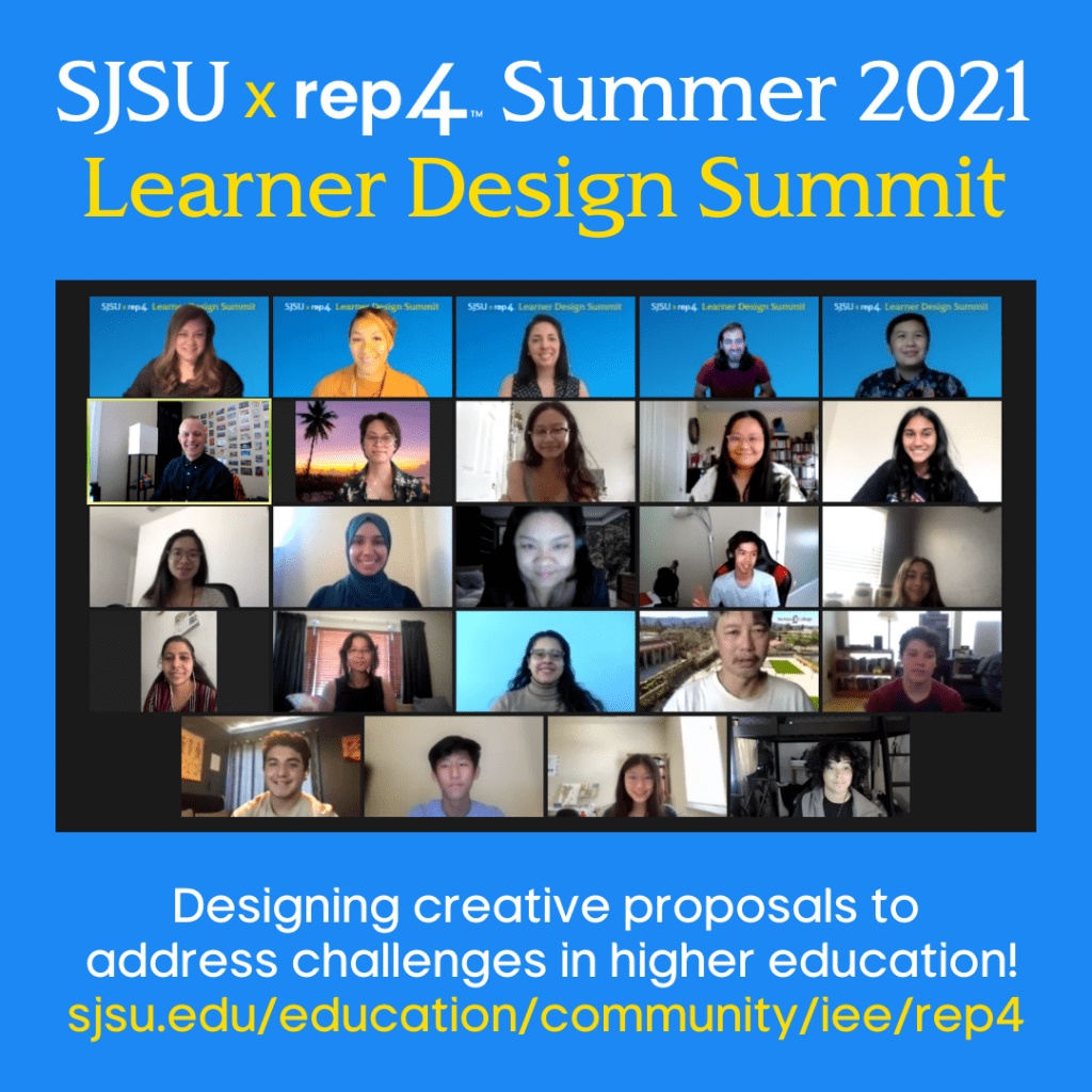 SJSU Lurie College of Education REP4 Learner Design Summit Group Photo