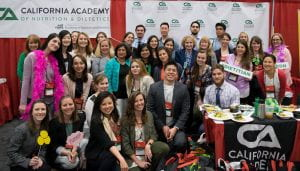 SJSU students, faculty, preceptors, and alumni at the 2017 California Academy of Nutrition and Dietetics annual conference in Sacramento, CA