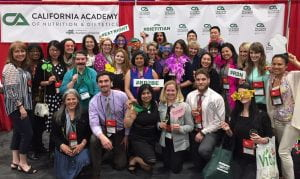 Students, faculty, staff, and preceptors at the 2017 California Academy of Nutrition and Dietetics annual conference in Sacramento, CA